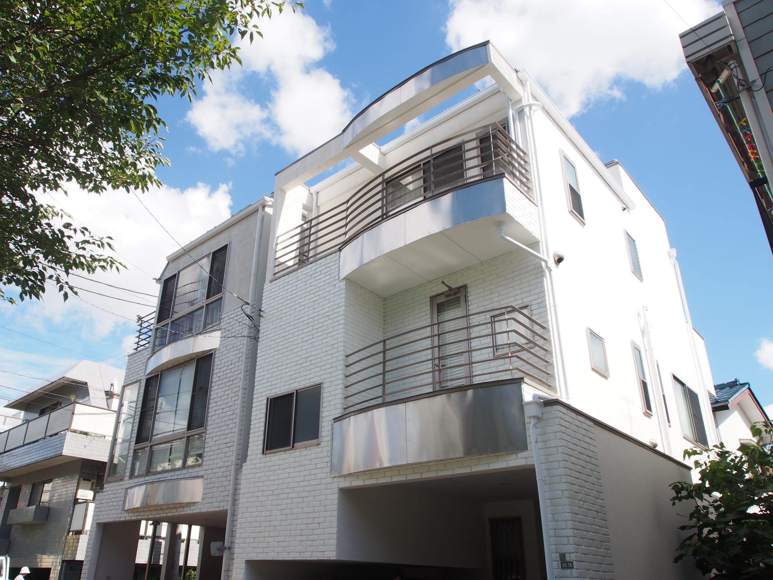 35坪木造3階建て住宅の塗装