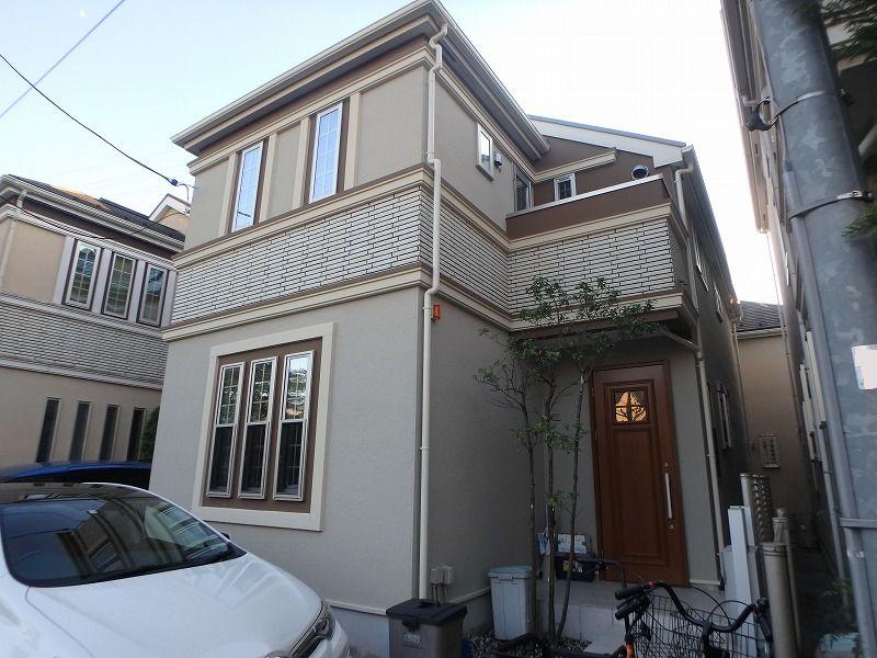 外壁塗装 杉並区T様邸 施工後外壁全景PC220019