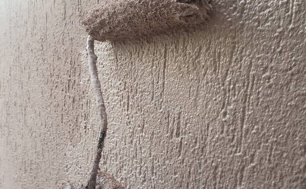外壁塗装 杉並区N様邸 ベランダ上塗り中 2020121828130