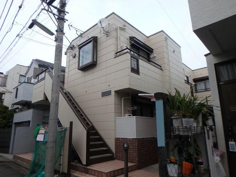 外壁塗装 世田谷区集合住宅D 施工後外壁全景PC030035