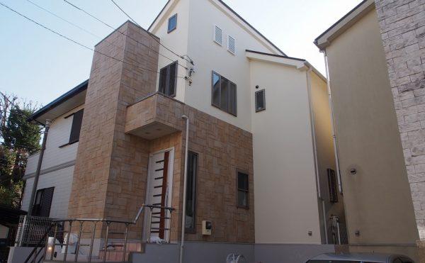 外壁塗装 世田谷区G様邸 施工後外壁全景PC140273