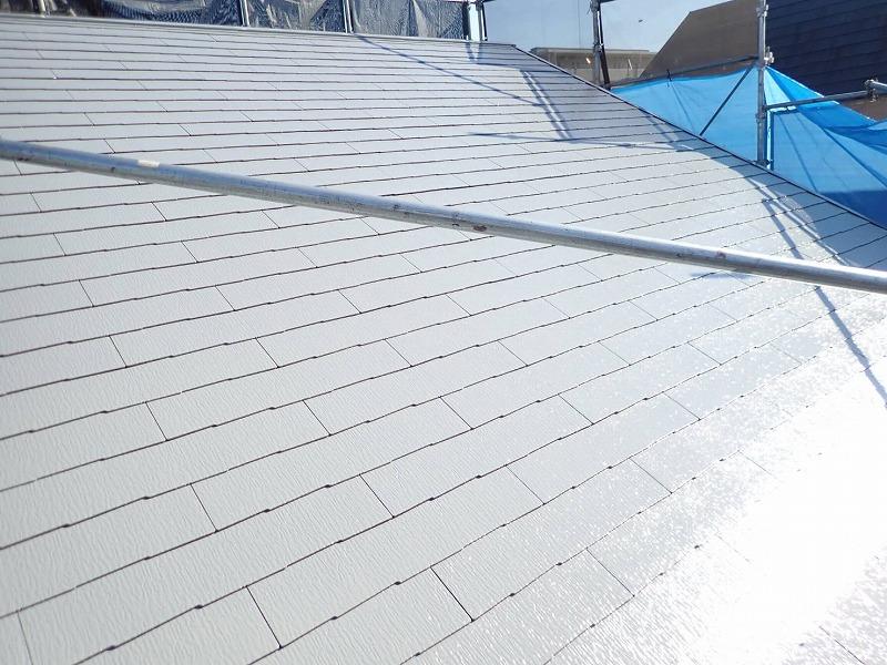 屋根塗装が完了しました!(エスケー化研 クールタイト Si CLR-106 グレー)
