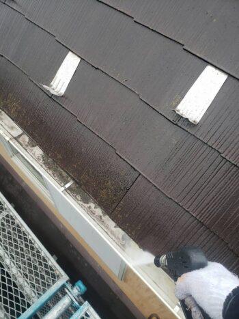 外壁塗装 世田谷区T様邸 高圧洗浄中 2021012328519