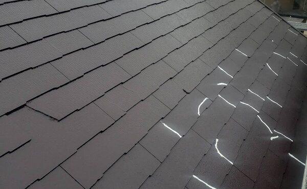 外壁塗装 日野市K様邸 屋根上塗り中2021011228386