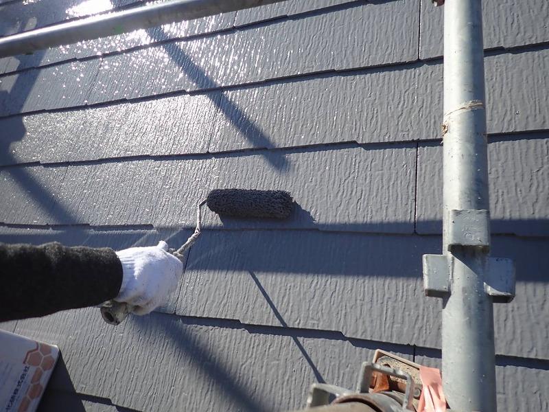 外壁塗装 世田谷区E様邸 屋根上塗り中2021021720865