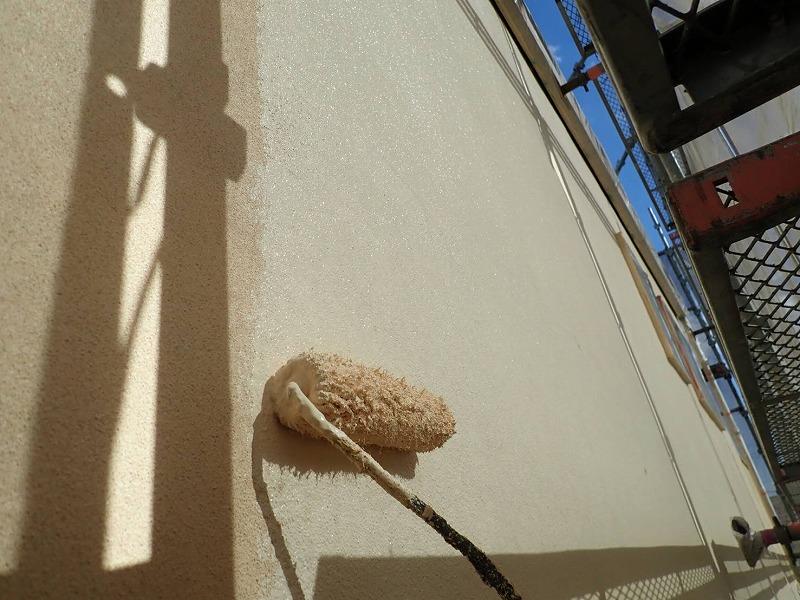 外壁塗装 世田谷区E様邸 外壁中塗り中 2021021820906