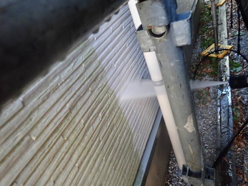 外壁塗装 調布市K様邸 外壁洗浄中2021022421060