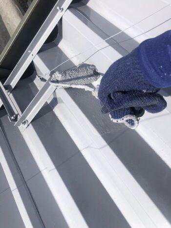 外壁塗装 世田谷区集合住宅HS 屋根上塗り中20210408S__20602894