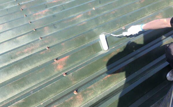 外壁塗装 世田谷区集合住宅HS 屋根下塗り中20210407S__20570119