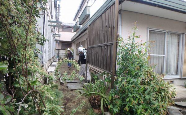 外壁塗装 世田谷区集合住宅HS 足場設置P4050068