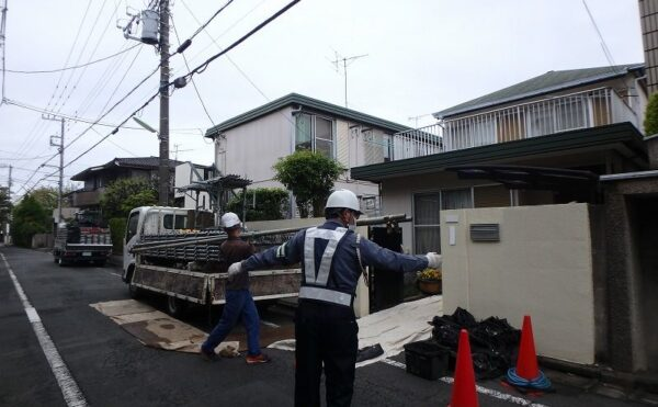 外壁塗装 世田谷区Y様邸 足場設置P4050067