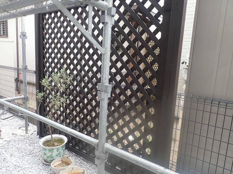 外壁塗装 中野区N様邸 ラティス塗装完了 2021042822663