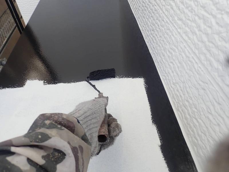 外壁塗装 中野区N様邸 庇塗装中 2021042622570