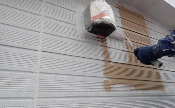 外壁塗装 調布市K様邸 外壁下塗り中 2021040522102