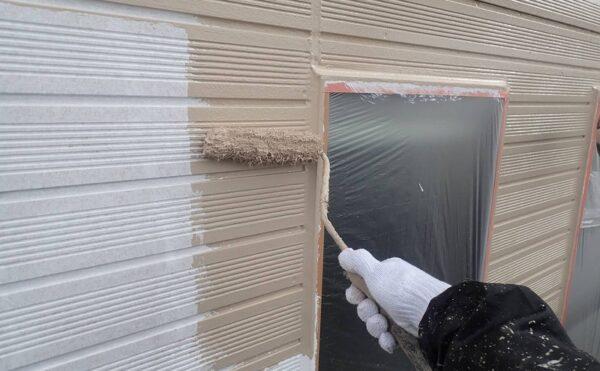 外壁塗装 調布市K様邸 外壁中塗り中2021040622142