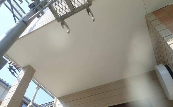 外壁塗装 調布市K様邸 軒裏塗装完了2021040722168