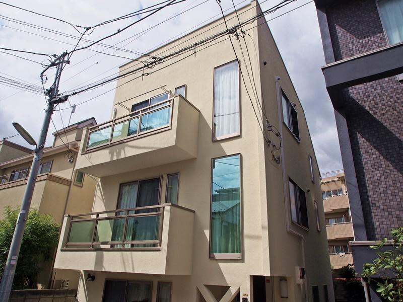 リシン吹き付け外壁の施工事例 世田谷区O様邸