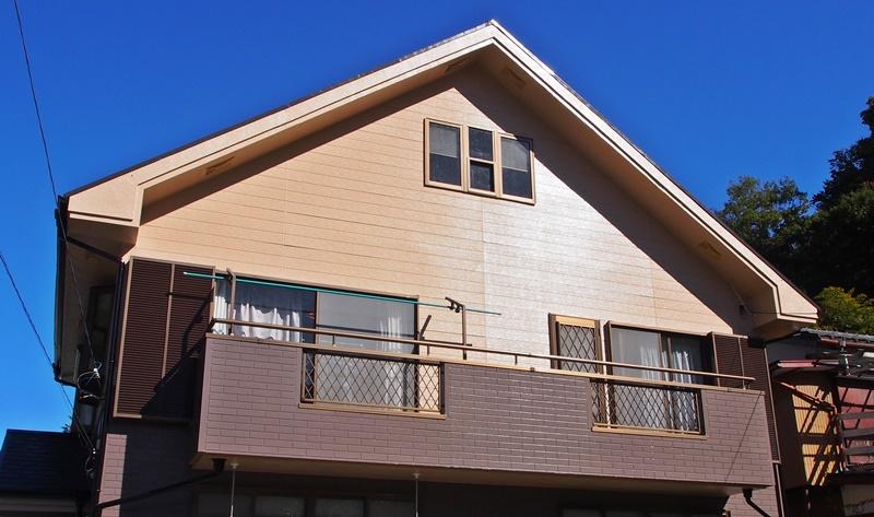 ピカピカの外壁になる一般塗料の塗替え