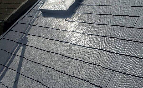 外壁塗装 世田谷区M様邸 屋根上塗り完了 2021051030561