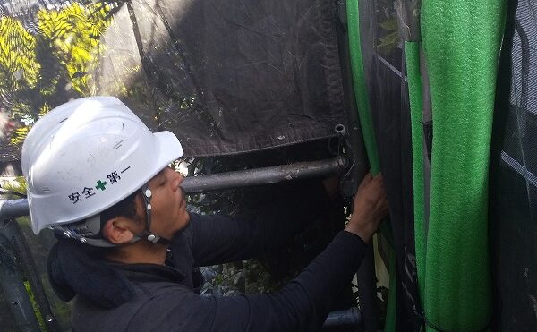 外壁塗装 世田谷区M様邸 足場設置20210506DSC_0563