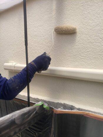 外壁塗装 調布市H様邸 外壁上塗り中 2021050430491
