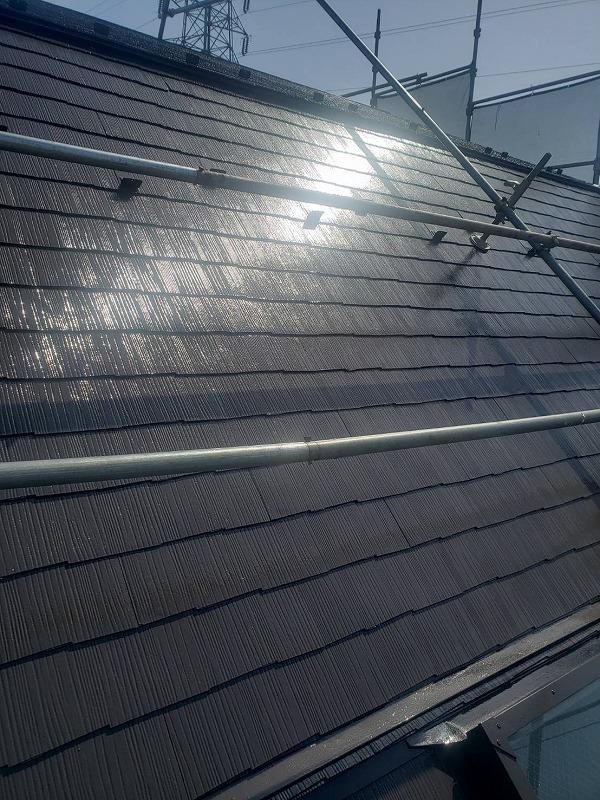 外壁塗装 調布市H様邸 屋根塗装完了 2021043030444