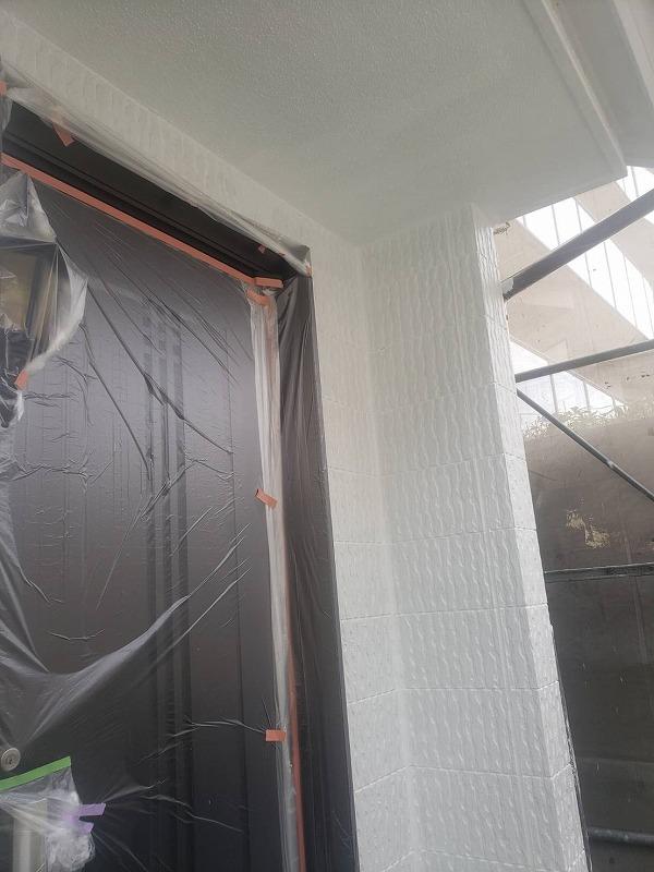 外壁塗装 世田谷区O様邸 養生 外壁下塗り完了 2021060530955