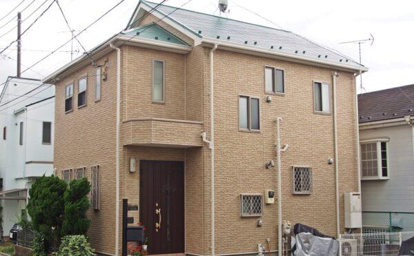 外壁塗装 世田谷区T様邸 施工後外壁全景P6050232