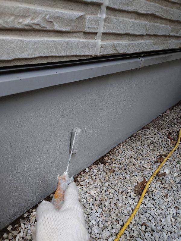 外壁塗装 杉並区U様邸 基礎上塗り中 2021060510660