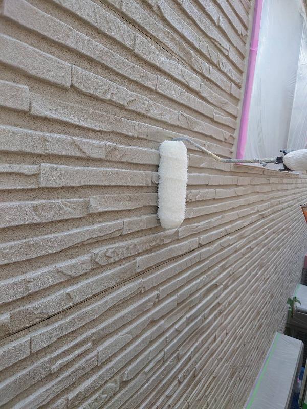 外壁塗装 杉並区U様邸 外壁クリヤー2回目塗装中2021060810706