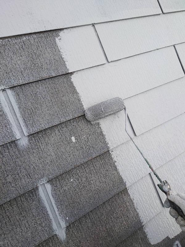外壁塗装 杉並区U様邸 屋根中塗り中 2021060310581