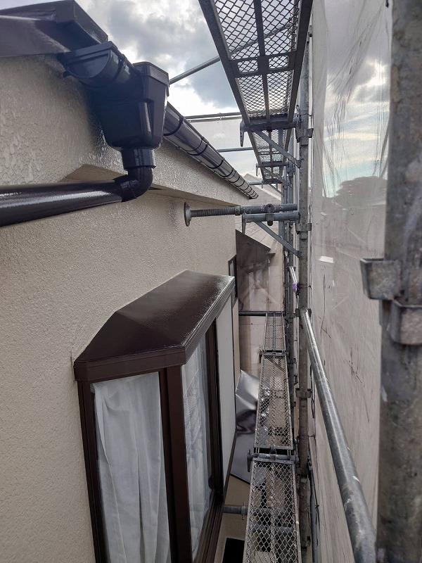 外壁塗装 世田谷区E様邸 各所塗装完了 2021071511716