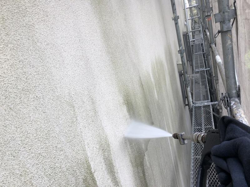 外壁塗装 世田谷区N様邸 外壁洗浄中20210714S__23101455