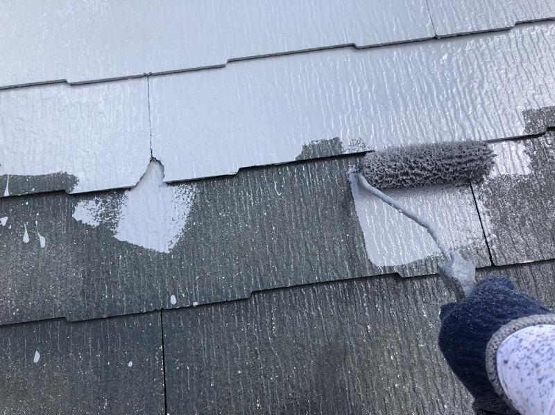 外壁塗装 世田谷区N様邸 屋根中塗り中 20210715S__23216142