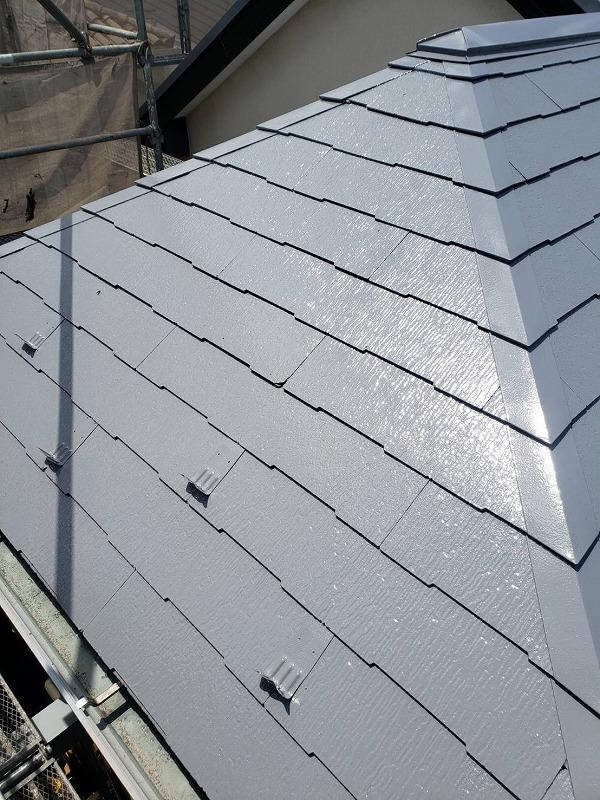 外壁塗装 世田谷区Y様邸 屋根上塗り完了 2021071631387