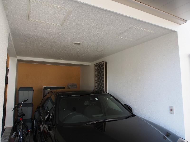 駐車場の中もキレイに塗り分けられました。