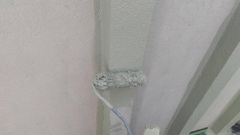 外壁塗装 杉並区H様邸 アクセント部中塗り中2021092125826