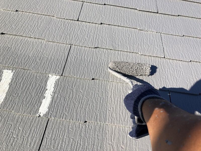 外壁塗装 杉並区H様邸 屋根上塗り中20210920S__25280525