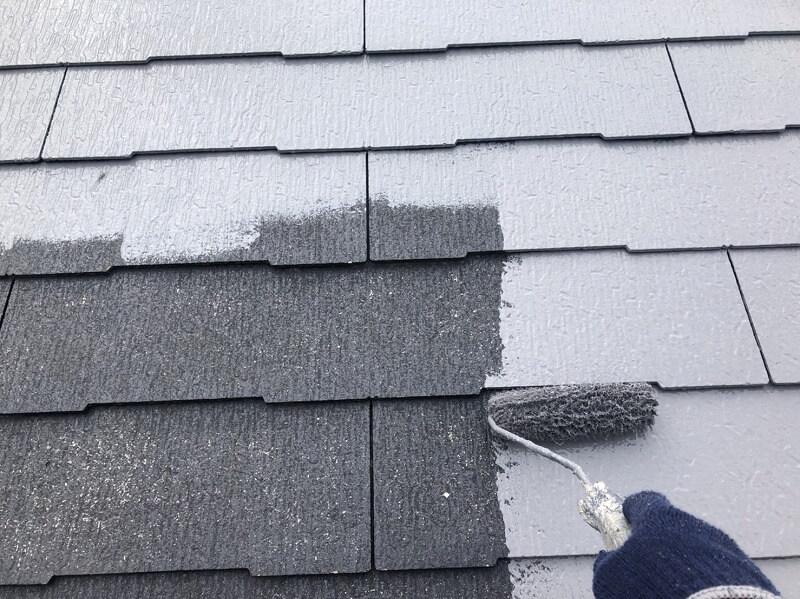外壁塗装 杉並区H様邸 屋根中塗り中 20210917S__25239570