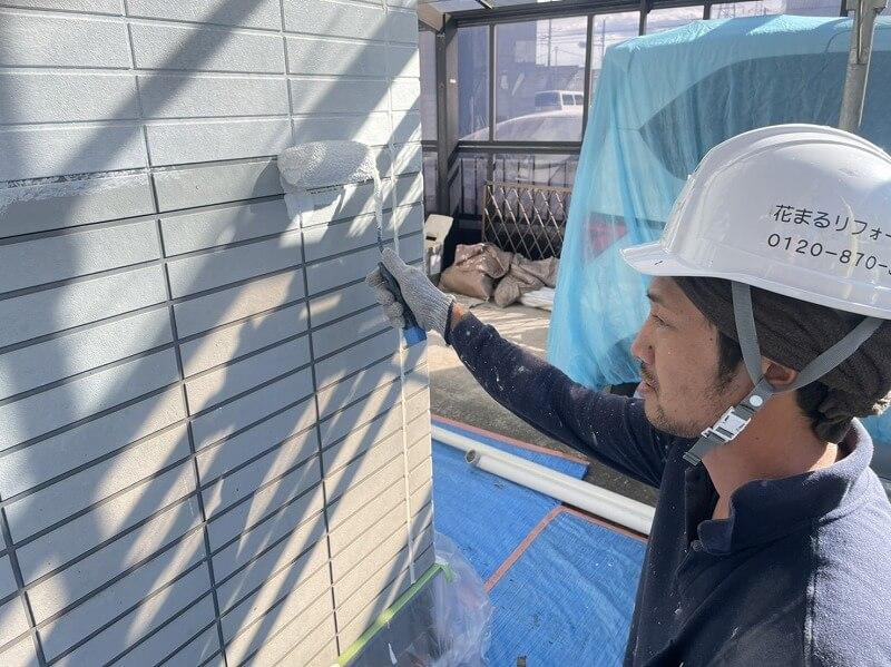 外壁塗装 世田谷区H様邸 外壁下塗り中20211020S__5333036