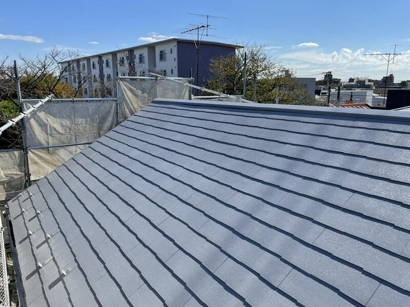 外壁塗装 世田谷区H様邸 屋根上塗り完了 20211018S__5300233