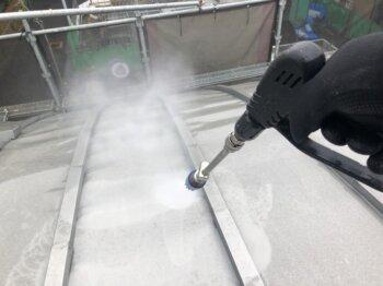 外壁塗装 世田谷区H様邸 屋根洗浄中20211022S__26091540