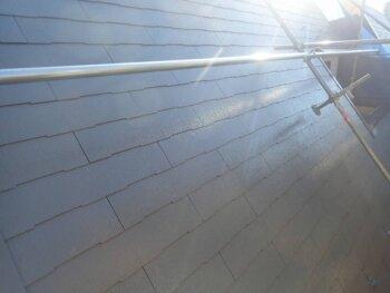 外壁塗装 世田谷区K様邸 屋根中塗り完了 2021102326744