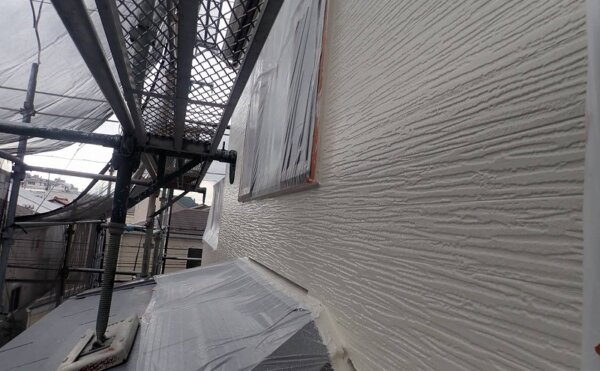 外壁塗装 世田谷区M様邸 外壁中塗り完了 2021101626550