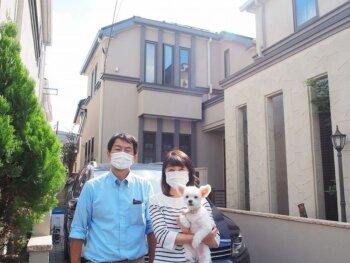 外壁塗装 杉並区H様邸 完成記念写真 20211015PA150789-col